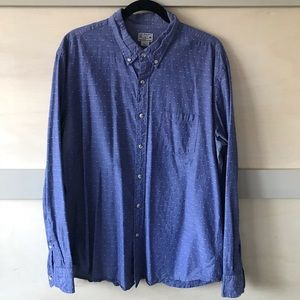 J. Crew embroidered chambray shirt